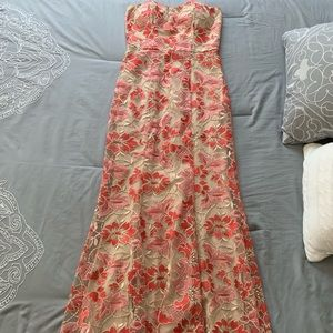Sweetheart neckline Lace Prom dress
